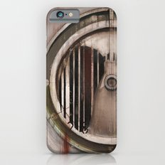 (Marlboro Red bar-code) silhouette of lungs against ball bearing  Slim Case iPhone 6s