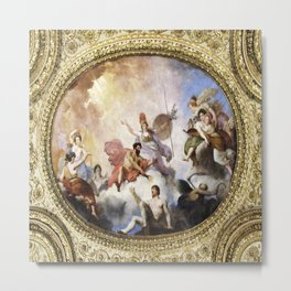 Fresco on Ceiling in Paris Metal Print