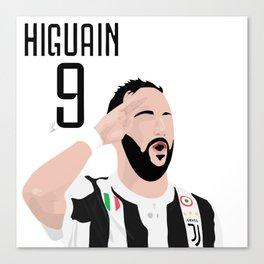 Higuain - Juventus Canvas Print
