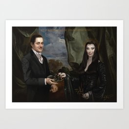 The Addams Art Print