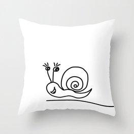 Funny Little Snail Throw Pillow