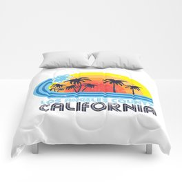 Los Angeles California Vintage Comforters