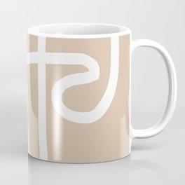 beige squiggle Coffee Mug