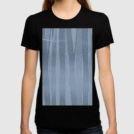 Woodland -  Minimal Blue Birch Forest T-shirt