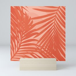 Terracotta Palm Leaves / Sunset Illustration Mini Art Print