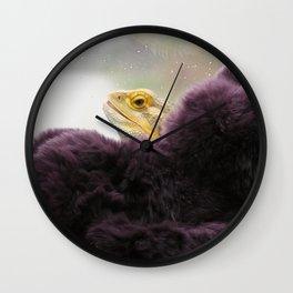 Fur Coat for Saffron Wall Clock