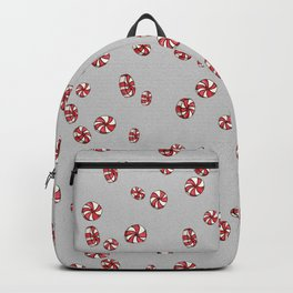 Peppermint Candy in Grey Backpack