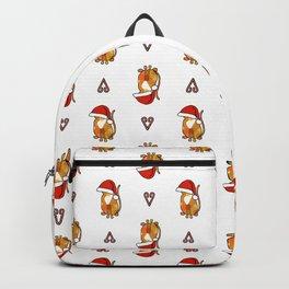 Cute cat in an oversized Santa hat Backpack