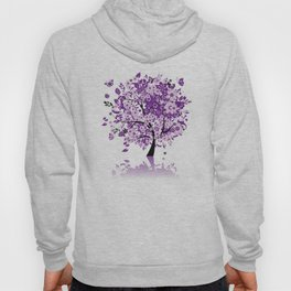 Purple Floral Tree Hoody
