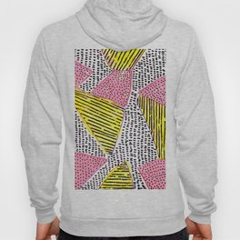 Abstract shapes yellow-pink-black Hoody