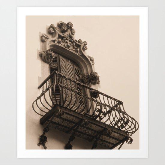 Barcelona Balcony Art Print