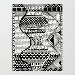 Wavy Geometric Patterns Poster