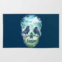 skull Area & Throw Rugs featuring Nature's Skull by Rachel Caldwell