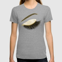 Glittery gold  lashes T-shirt