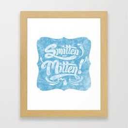 Smitten with the Mitten (Blue Version) Framed Art Print