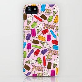 Ice Cream Doodles iPhone Case