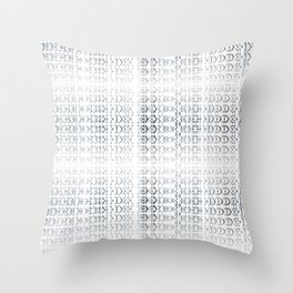 joy alphabet [ need more toner ] Throw Pillow