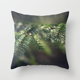 Spruce needles II Throw Pillow