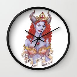Ruby of the Sea Wall Clock