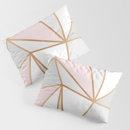 Pink, Grey & Gold Geo Pillow Sham