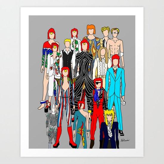 Bowie Doodle Art Print