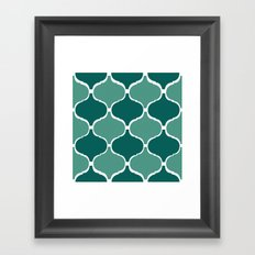 Marrakech Pattern Dark Green Framed Art Print