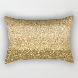 Glitter Glittery Copper Bronze Gold Rectangular Pillow