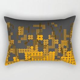 Fire Dots 3 Rectangular Pillow
