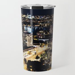 Gold Luminous Yaletown Vancouver Travel Mug