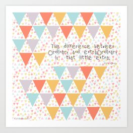 The difference between... Art Print