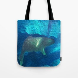 Mirror whales Tote Bag