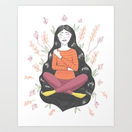 Peace and Pain (either/or/both) Art Print