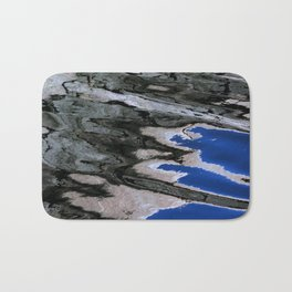 grey abstract water reflection Bath Mat