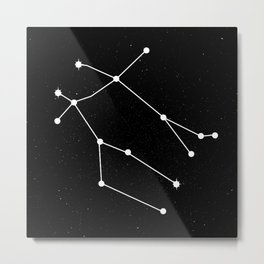 GEMINI (BLACK & WHITE) Metal Print