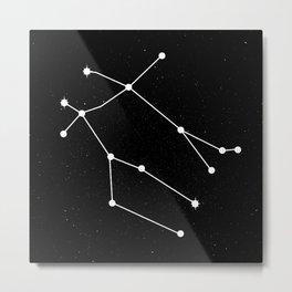 GEMINI (BLACK & WHITE) Metal Print