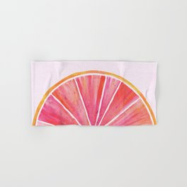 Sunny Grapefruit Watercolor Hand & Bath Towel