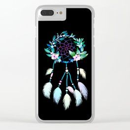 floral dream catcher - sweet dreams Clear iPhone Case