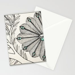 Madhubani Peacock Stationery Cards