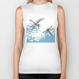 Dragonflies print Biker Tank