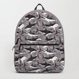 Sharks On Grey Backpack