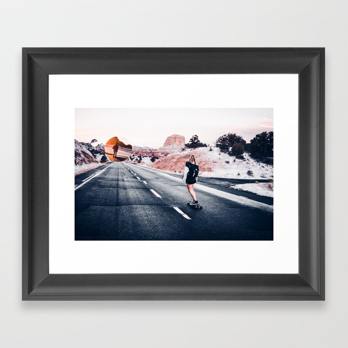 chase your dreams 2 Framed Art Print