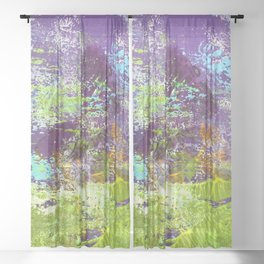 Heron Abstract Painting Sheer Curtain