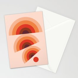 Sun and Rainbows (Abstraction geometric artwork) Stationery Cards