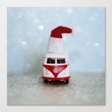 Vintage Bus Christmas Canvas Print