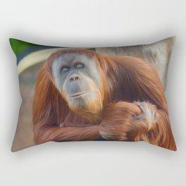 Who Dat? (digital painting) Rectangular Pillow
