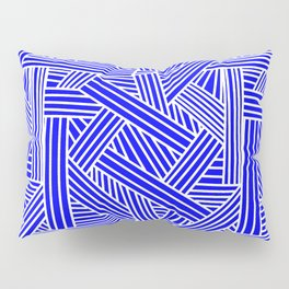 Sketchy Abstract (White & Blue Pattern) Pillow Sham