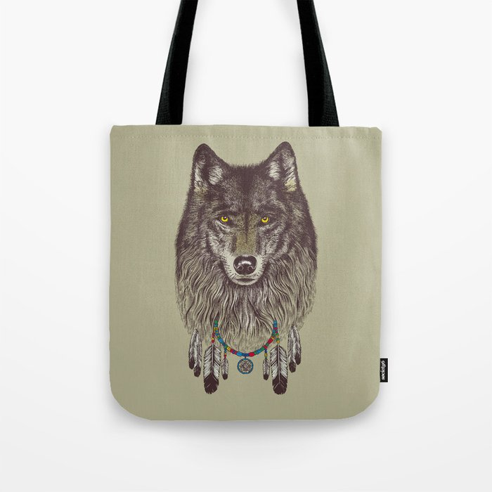 Wind Catcher Wolf Tote Bag