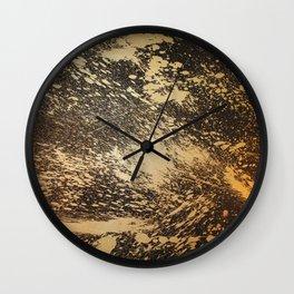 Gold on Black Wall Clock
