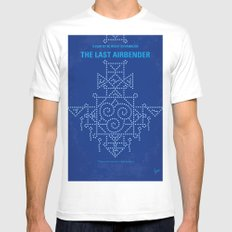 No764 My The Last Airbender minimal movie poster Mens Fitted Tee White MEDIUM