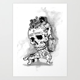 HOT SKULL Art Print